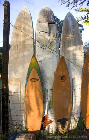 Surfboard Fence Maui, travel photography