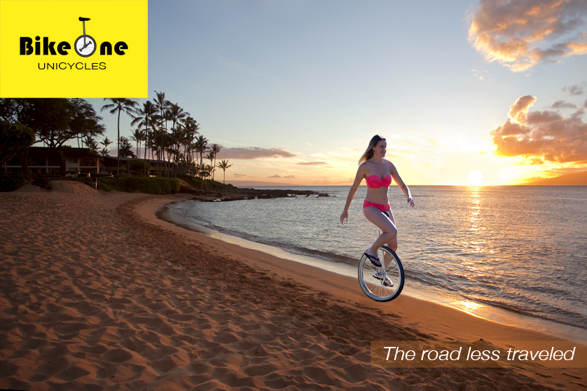 Unicyclist in Maui