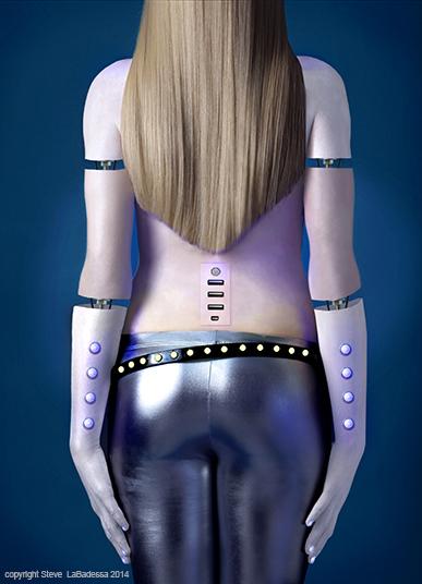 Woman Robot photo illustration