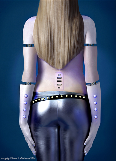 Woman Robot photo illustration