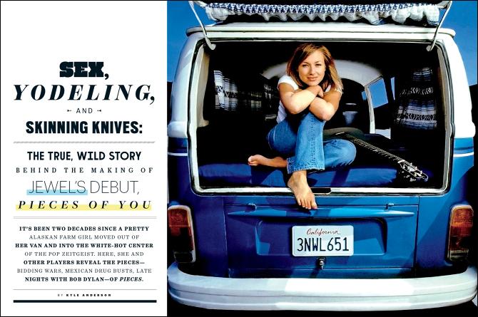 Jewel in her Volkswagen Van.